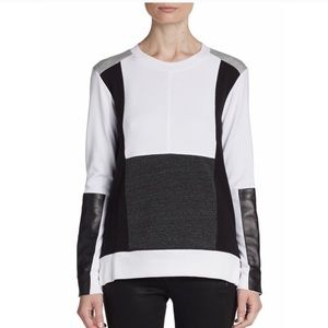 Aiko Colorblock Long sleeve Top Size S